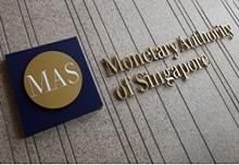 The logo of the Monetary Authority of Singapore (MAS) is pictured at its building in Singapore