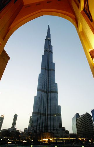 A view of the Burj Khalifa tower in downtown Dubai, May 10, 2011